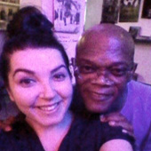 Samuel L. Jackson at Checkpoint Charly