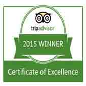 Checkpoint Charly е горд собственик на Certificate of Excellence от Tripadvisor